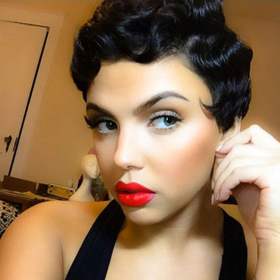Short Curly Black Cute Wig African Afro Hair Synthetic Wigs For Black Women Cheap Short Hair