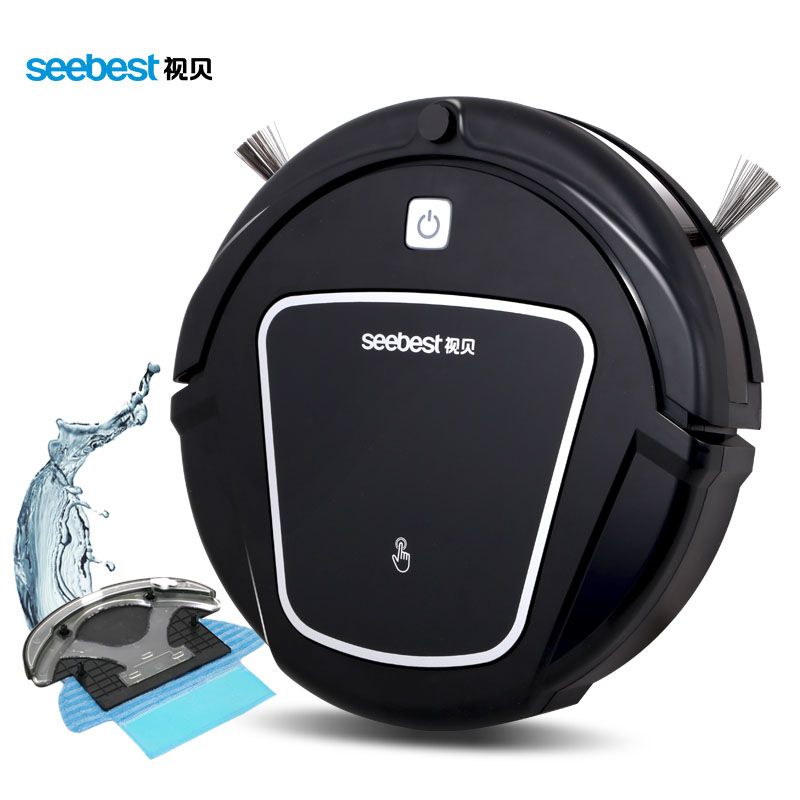 Seebest D730 MOMO 2.0   robot vacuum cleaner Clean Robot Aspirator with Wet/Dry Mop Water Tank, Auto Recharge Smart Cleaner. 2017 wifi smartphone app control sweeping vacuum sterilize wet and dry mop vacuum cleaner robot qq6 update with water tank