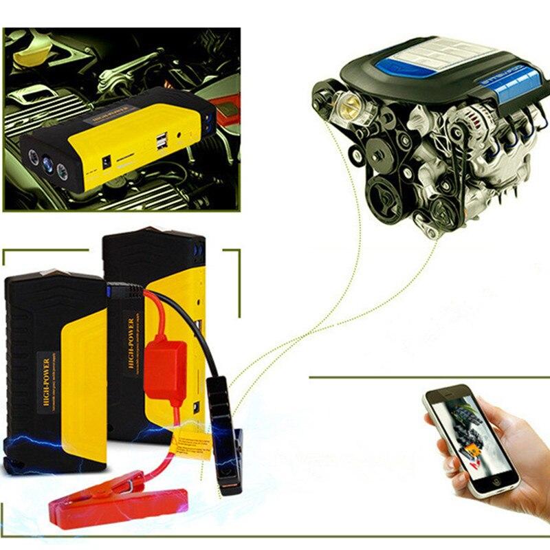 GKFLY New Emergency 12V 600A Car Jump Starter Power Bank Petrol Diesel Car Charger For Car Battery Booster Buster Car Starter LE
