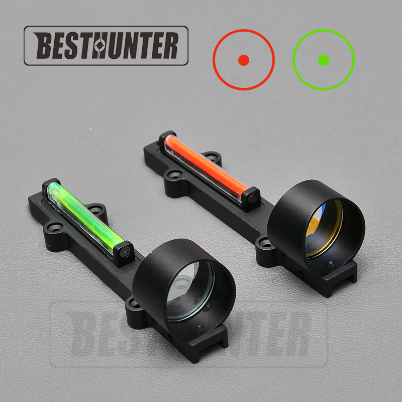 New Red/Green Fiber Red Dot Sight 1x28 Collimator Sight Fit Shotguns Rib Rail Vent Rib/Rail Screw Mount Works Hunting Scope rib knit tights