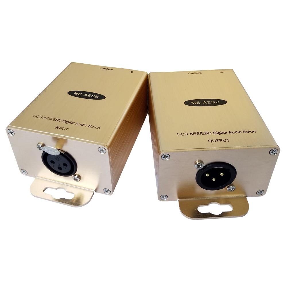 Купить с кэшбэком Balanced Digital AES/ebu Audio Extender Over Cat5e/6 Cable Digital Audio to RJ45 Adapter