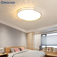 Omicron New LED Chandelier Dimming Remote Control Crystal Decoration For Living Room Bedroom Home Chandelier Ceiling Fixtures