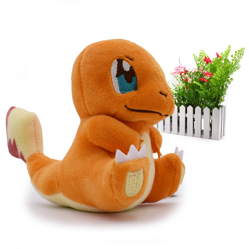 12 Cm Anime Peluche Sitting Charmander Stuffed Plush Cartoon Dolls Great Christmas Gift Toy For Children