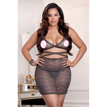 Sexy Gary Lace Bandage M-3XL Plus Size Lingerie Dresses Hot New Oversize Special