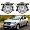For Dacia Logan LS 2004-2016 Car-Styling 9 Pieces Led Fog Lights 12V 55W Fog Head Lamp