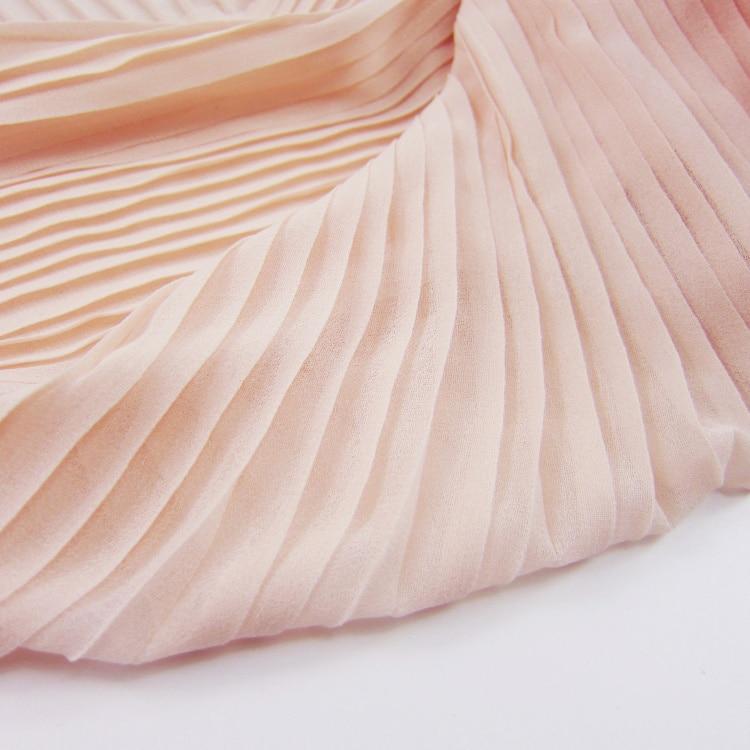 100 Fold Organ Cloth Composite Silk Chiffon Naked Apricot Colo
