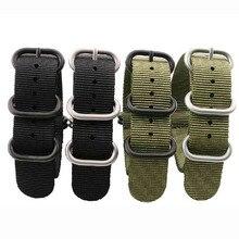 NEUE Hohe Qualität Straps Für NATO 18mm 19mm 20mm 21mm 22mm 23mm 24mm 26mm Schwarz Grün Grau Sport freizeit gewebt Nylon Armband