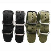 Nowe wysokiej jakości paski do NATO 18mm 19mm 20mm 21mm 22mm 23mm 24mm 26mm czarny zielony szary sport wypoczynek tkany nylonowy pasek do zegarka