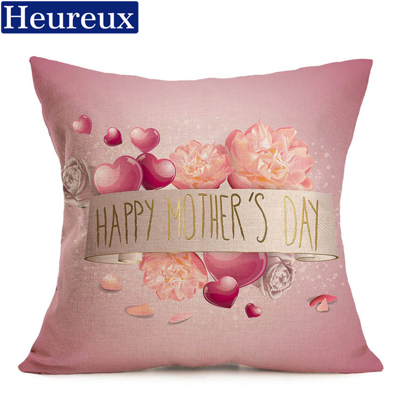 Heureux mother day cushion cover european style pillow