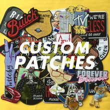 Gepersonaliseerde aangepaste borduurwerk patch DIY uw eigen ontwerp naam tag merk brief grote militaire biker applique patches voor jas(China)