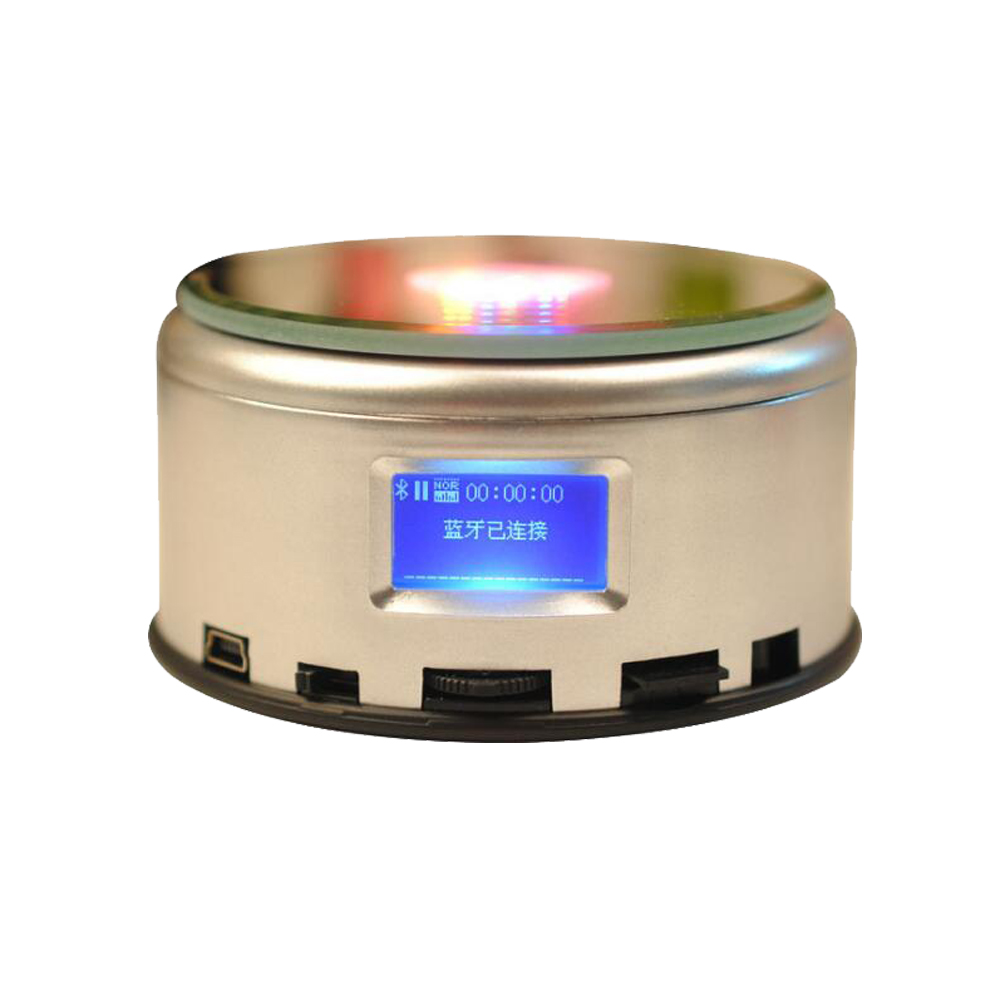 Image 5 - LED Colorful Luminous MP4 Music Bluetooch Base Light Rotating Crystal Display Base Stand Holder-in Lamp Bases from Lights & Lighting