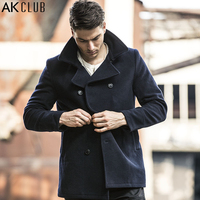 Free Shipping Ak Men S Clothing Autumn Male Detachable Cap Raglan Sleeve Wool Coat Male 1541041