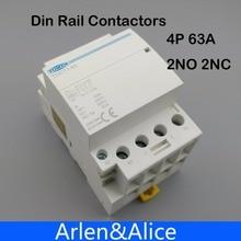 TOCT1 4P 63A 2NC 2NO 220V Катушка 400V~ 50/60HZ Din rail бытовой ac Контактор В соответствии с стандартом