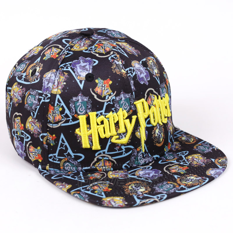 New Unisex Baseball Cap Hogwarts Letter Embroidery Snapback Fashion Sunny Hat for Men & Women Adjustable Hip Hop Caps adjustable la baseball cap men women snapback cap hat female male hip hop bone cap black cool fashion gorras letter cotton cap