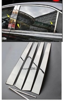 2003 2006 for Toyota Camry Window Chrome Pillar Post Cover Trim Molding Garnish Accent Stainless Styling