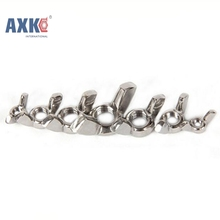 10Pcs DIN315 M3 M4 M5 M6 M8 M10 Galvanized Hand Tighten Nut Butterfly Nut Ingot Wing Nuts AXK045