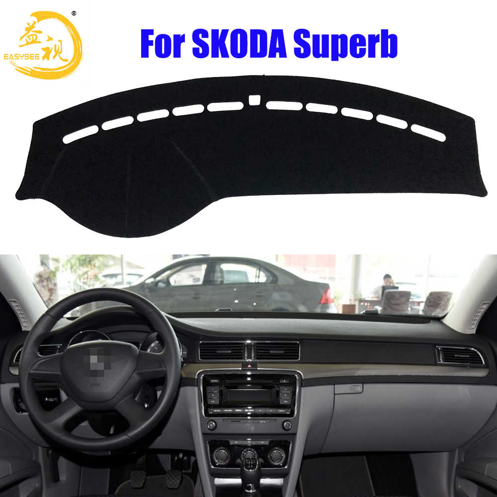 Easysee Dashboard Cover Pad Dashmat Dash Mat Sun Shade Dash Board Cover Carpet For SKODA Superb Dust proof