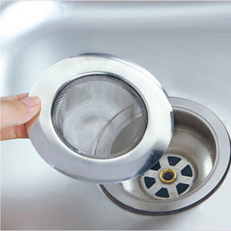 Hot 1 Pc New Stainless Steel Suction Strainer Convenient Sink Drain Sewer Filter Kitchen Tool
