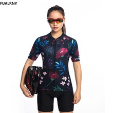 2019 FUALRNY NEW Women Cycling Jersey Sets Summer MTB Bike Clothing Mountian Bicycle Clothes Ropa Ciclismo Flower