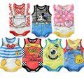 2016 Hot New Summer Kids Cartoon Printed Triangle Bodysuit Newborn Baby Children's Clothing Cotton Bodysuit
