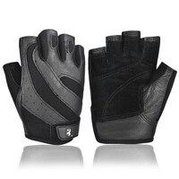 Boodun Fitness Rękawice Half Finger Rękawice Fitness Mężczyzn Budowy Ciała An-slip Podnoszenie Ciężarów Szkolenia Sportowe Rękawiczki Bez Palców Czarny