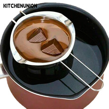 Hot selling Single Pot DIY Chocolate Maker Chocolate Melting Pot Cheese Fondue Maker stainless steel Heating Bowl A0616