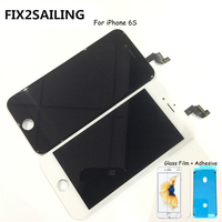FIX2SAILING 100% Grade AAA LCD Display Touch Screen Digitizer Assembly Replacement For Apple iPhone 6S +Glass Film +Adhesive