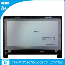 Laptop Touch Screen Assembly Replacement With Bezel For Lenovo FLEX 15 LCD Module 1366×768 LVDS B156XTT01.0 90400210