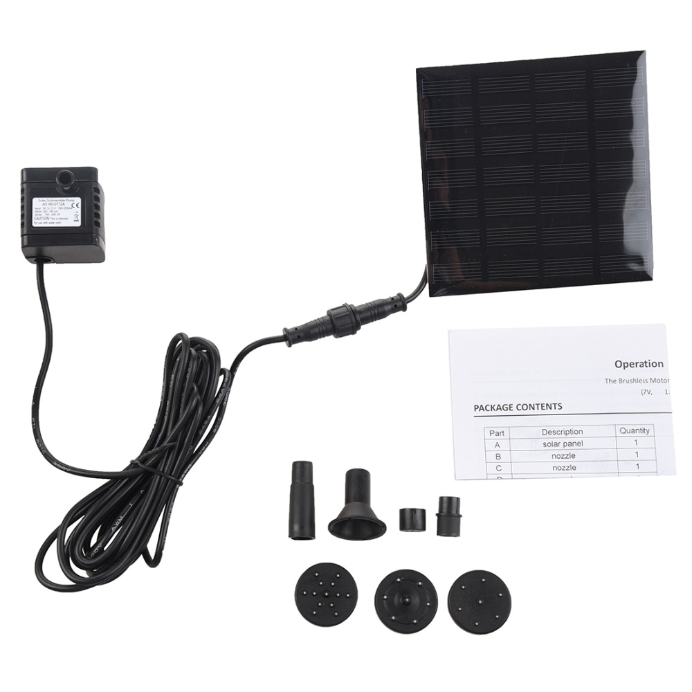 Water Pumps Solar Panel Power Submersible Fountain Pond Water Pump small mini Pump for Pool Garden Plant Outdoor