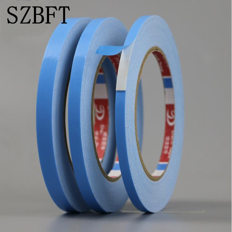 SZBFT 2mm-10mm 10M 0.5mm Thickness Blue--white Hot Multifunction Sponge Foam Double Sided Adhesive Tape