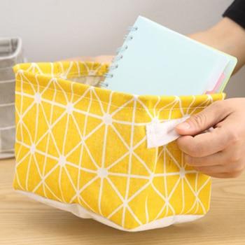 DIY Desktop Storage Basket Sundries Underwear Toy Box Cosmetic Book Organizer Stationery Container Laundry 2