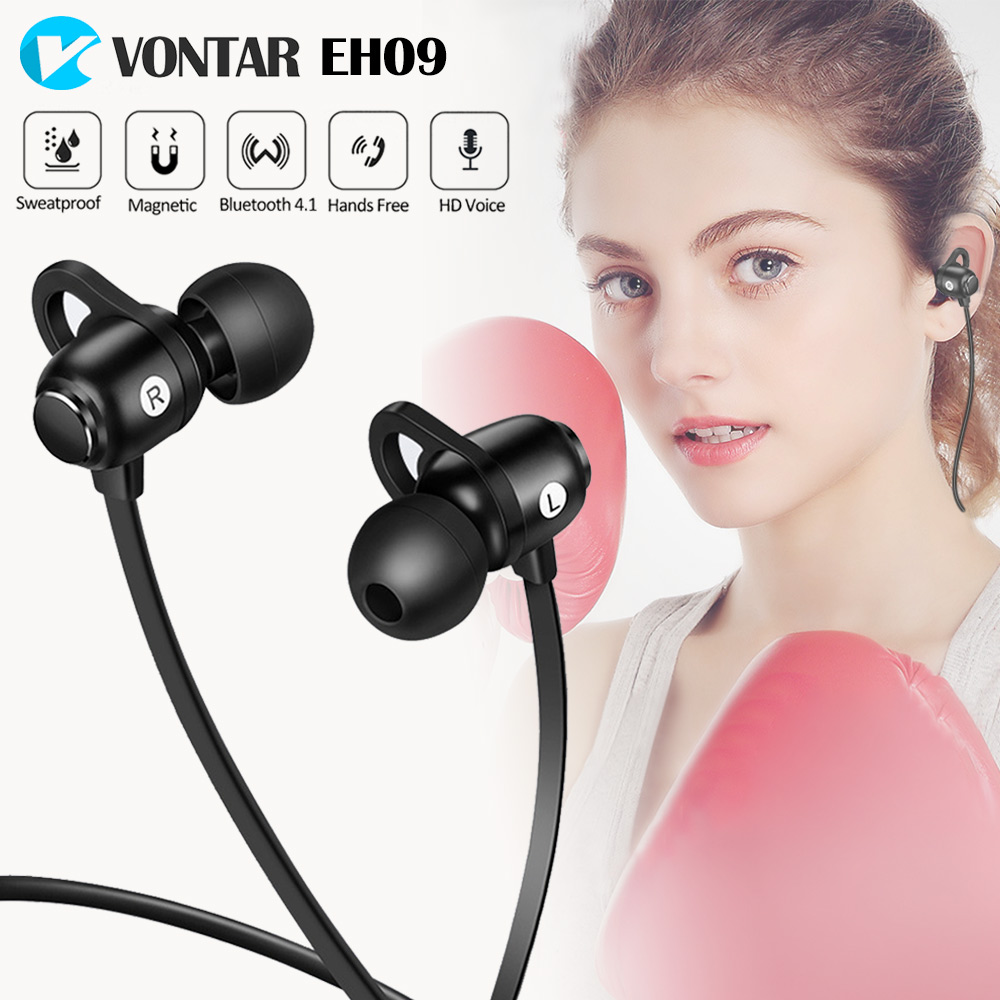 VONTAR CSR8640 Bluetooth Sports Earphones headsets with Mic IPX4 Sweat proof Heavy Bass Stereo for Gym Running drop proof
