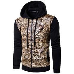 Fashion leopard tiger pattern print slim fit pu leather jacket men hooded patchwork jacket men s.jpg 250x250