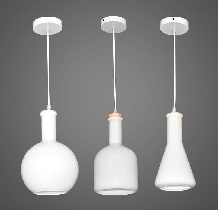 nordico diseo dormitorio lmpara colgante colgante del arte gass botella luminaria decoracin del hogar modernos artefactos