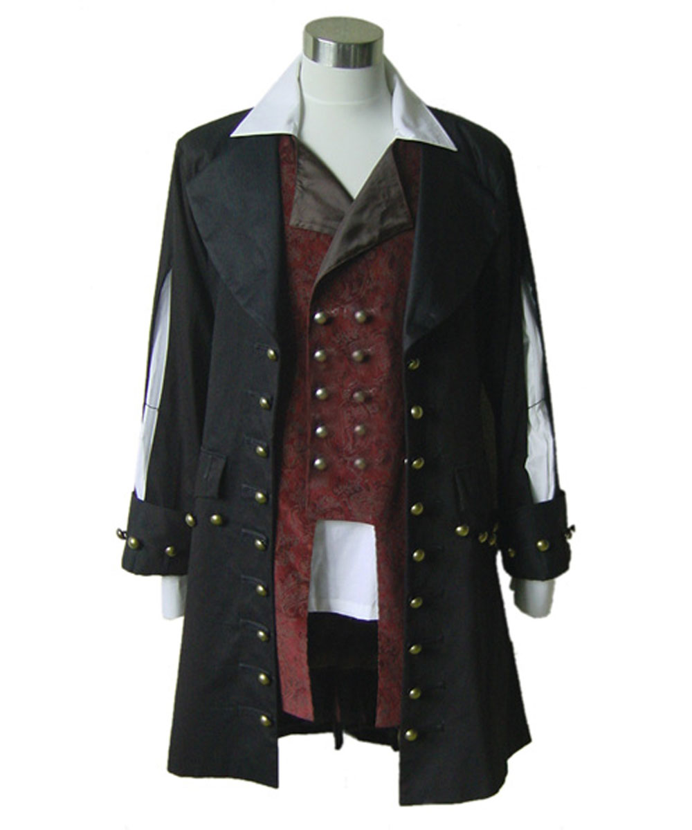 Pirates of the Caribbean cosplay Barbossa Jacket coat only Costume high quality party Halloween Carnival Full