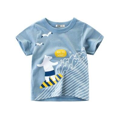 Loozykit/Летняя детская футболка для мальчиков футболки с короткими рукавами и принтом короны для маленьких девочек хлопковая детская футболка футболки с круглым вырезом, одежда для мальчиков - Цвет: Style 13