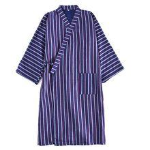 Soft Gauze Cotton Men's Robe Classic Japanese Style Kimono