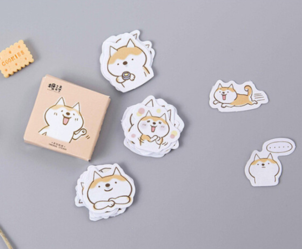 Office & School Supplies Peerless 45pcs/box Decorative Lifelog Sticker Cute Stationery Cute Dog Duet Album Paper Lable Stickers Crafts And Scrapbooking Sufficient Supply