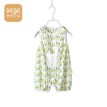 HHTU Baby Jumpsuit Sleeveless Summer Newborn Girls Rompers Outfit Sunsuit Cotton Cartoon Toddler Cute Infant Clothes