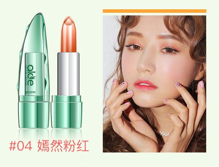 100% Natural Aloe Vera Gel Moisturising Lipstick/Lip Balm - Long Lasting Waterproof 26