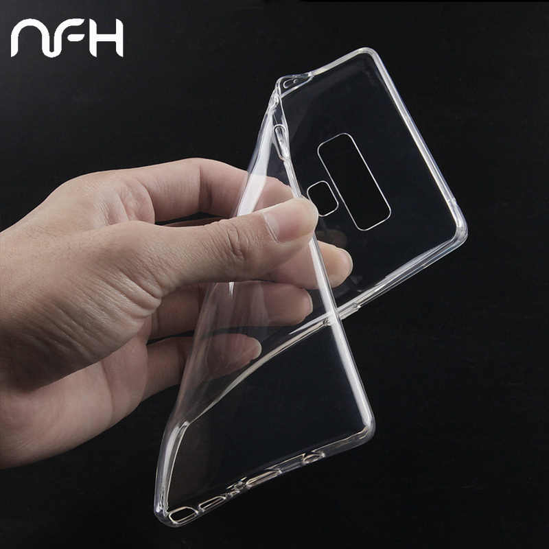 Transparente teléfono casos para Samsung Nota 9 8 S8 S9 más S7 A3 A5 A7 2016 A6 A8 J3 J5 j7 J4 J6 J8 2018 cubierta suave Coque Capa