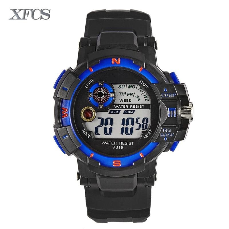 ecd61f79e63f Xfcs 2017 impermeable muñeca digital automático relojes para hombres  digitais reloj corriendo mens hombre reloj niños baratos tácticos en Relojes  deportivos ...