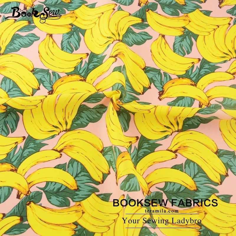 Книжная ткань 100% хлопок Поплин Ткань для вышивания кукол банан Фруктовый Дизайн Шитье для ремесел одежда платье для девочек Рубашка пэчворк см