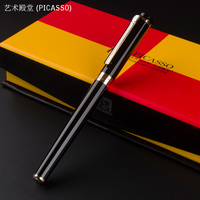 High Quality PICASSO 908 Black Metal Fountain Pen With Gold Clip School Office Stationery Luxury Writing