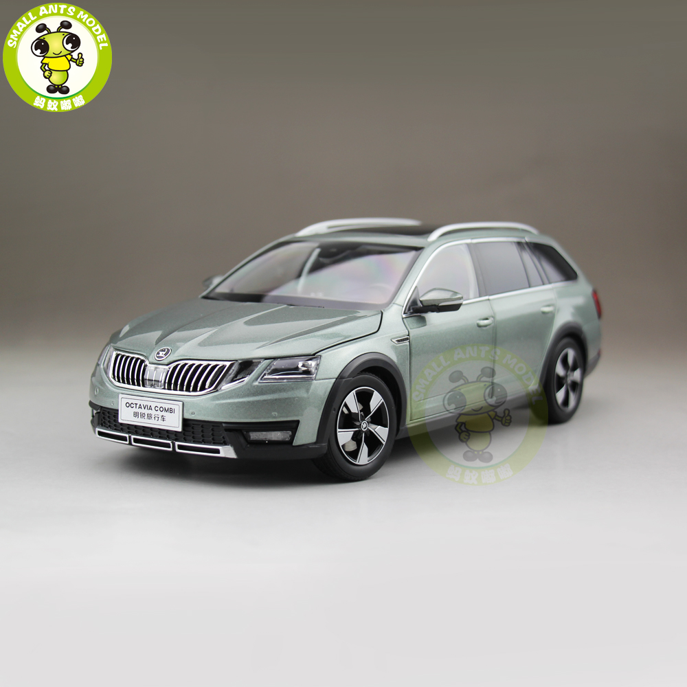 1/18 VW Skoda Octavia Combi Wagon Diecast Metal CAR MODEL Toy Girl Boy Birthday gift Green Color