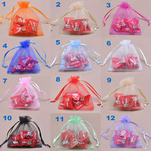 9x12cm Jewelry drawstring gift bag/organza pouch/small Christmas bag/candy organza bag