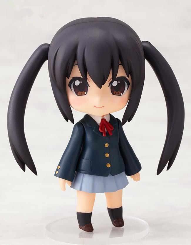"Bonito 4 ""Nendoroid figura anime Japonês K-ON! Nakano Azusa PVC Action Figure Toy Model Collection #104"
