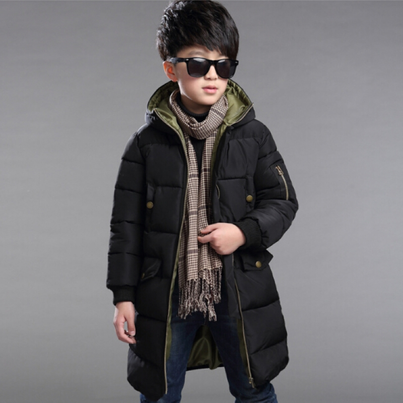 ФОТО 2016 Boys Parka Outwear Children Jackets Winter Jacket For Boy Ski Suit Kids Clothes Snowsuit Hooded Coat Costumes Teenage Child