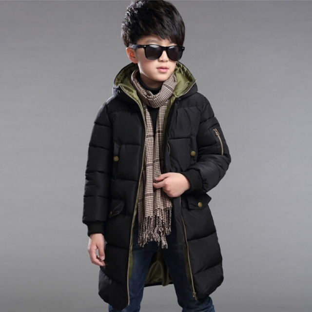 2016 Boys Parka Outwear Children Jackets Winter Jacket For Boy Ski Suit Kids Clothes Snowsuit Hooded Coat Costumes Teenage Child