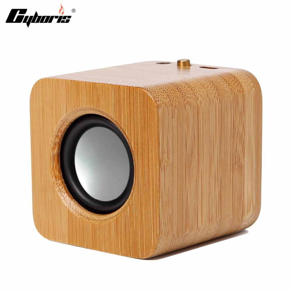 CYBORIS Wooden Wireless Bluetooth Speaker Wireless Stereo Mini Portable MP3 Player
